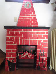 cardboard fireplace with chimney