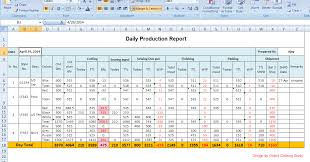 Daily Production Report Template Excel Under Fontanacountryinn Com