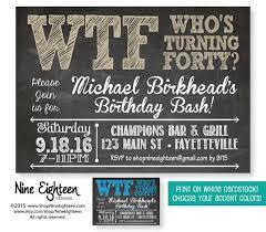 40th Birthday Invitations Pin By Heather Crowley On 40th Birthday Ideas 50th