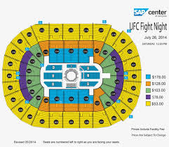 View Seating Chart Mma Sap Center Seating Transparent Png