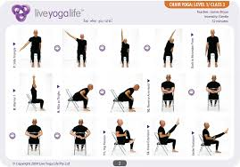 chair yoga. yoga with a chair level 1 \u2013 class 3 o