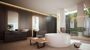 Hardwood Floor Bathroom Teak Sink Cabinet Mirror Bathtub Hardwood Floor Toilet Towel