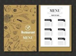 Restaurant Menu Template Free Vector Download Indian Card Templates