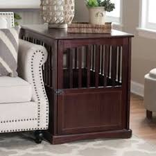 designer dog crate furniture ruffhaus luxury wooden. Newport Pet Crate End Table - Well-ventilated For Maximum Comfort, This  Is A Deluxe In Design And Perfect Medium-sized Dogs. Designer Dog Crate Furniture Ruffhaus Luxury Wooden