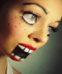 the bride of chucky make up or mask 13 makeup looks that made you see double