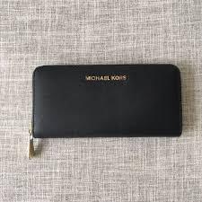 michael kors black jet set travel saffiano leather continental wallet women s fashion bags wallets wallets on carou