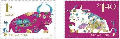 Our new year greeting cards can be used for both. Singpost Ushers In Chinese New Year With Ox Picious Zodiac Stamps Singapore Post