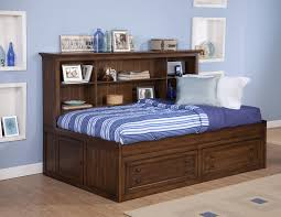 Lounge Bedroom New Classic Logan Twin Size Storage Daybed With Bookcase Headboard
