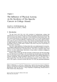 the influence of physical activity on the incidence of site inside