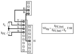motor thermistor wiring diagram electrical work wiring diagram \u2022 weg motor thermistor wiring diagram 622402 powerflex 520 series drive connecting a ptc thermistor rh rockwellautomation custhelp com industrial motor control wiring diagram motor thermistor