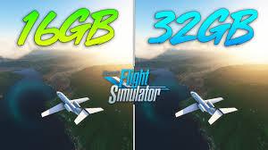 microsoft flight simulator 16gb ram