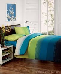 studio lime green teal blue striped duvet quilt cover bedding uk