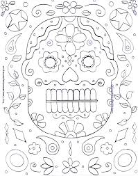 Small Picture Free Halloween Mask Coloring Page