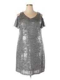Msk Dresses Size Chart Details About Msk Women Gray Cocktail Dress 1x Plus