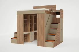 Bunk bed with office underneath Man King Loft Bed 020416 Bjpg Casa Collection Urbano King Loft Bed Casa Collection