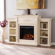 dublin 70 inch ivory electric fireplace