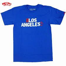 la Print Shirt Limited Blue Vans Brand t los Angeles New