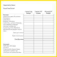 Nonprofit Budgeting Nonprofit Budget Template Organization Excel Annual