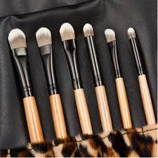 12 pcs professional makeup brush care beauty cosmetic brushes set with case leopard makeup bag in
