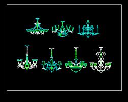 interior cad chandelier