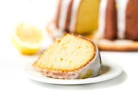 gluten free lemon bundt cake via kingarthurflour