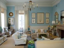 Turquoise U0026 Beige Living Room Traditional