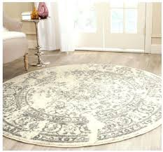 collection ivory and silver round area rug 4 feet safavieh rugs home depot
