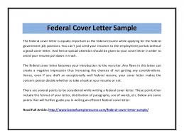 Federal Government Job Cover Letter Sample Cover Letter