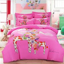 girl full size bedding sets animal giraffe horse elephant cartoon kids boys girls bedding set