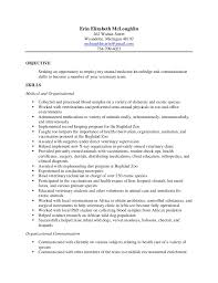 veterinary technician resume occupational examples. veterinary .