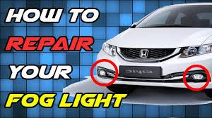 2018 Honda Crv Fog Light Bulb Replacement How To Repair Broken Fog Light Glass Lens Replacement Diy