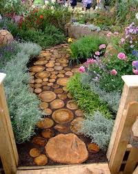 rustic stepping stones for a truly unique garden