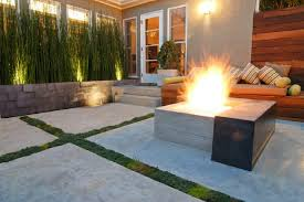 modern concrete patio. Modern Concrete Patio Pavers Landscaping Gardening Ideas A