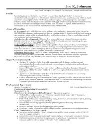 Sample Architect Resume Technical Cv Work Throughout System All