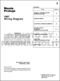 1997 mazda protege wiring diagram manual original