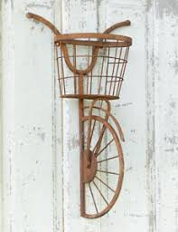 image is loading bicycle wall basket shelf storage rustic wall decor  on iron bike wall decor with basket with bicycle wall basket shelf storage rustic wall decor wall art farm