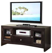 modern versatile wood entertainment stand console shelves drawer glass doors center with sliding sta