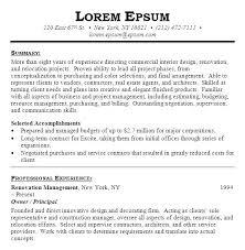 Sample Interior Design Resume Here Are Interior Design Resume Sample ...