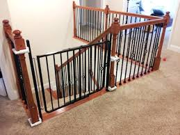 Baby Gates For Stairs White Wooden Home Inspiring Child Safety With ...