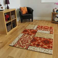 Inexpensive Rugs For Living Room Warm Terracotta Orange Small Large Patchwork Modern Rugs Living