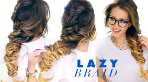 Quick Hairstyles For Braids Lazy Girls French Fishtail Braid Hairstyle Cute School