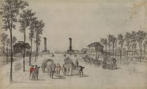 a civic utopia porta ← a civic utopia ← drawings  georges michel place and barriere de la nation verso c 1830