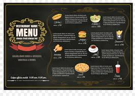 Hamburger Fast Food Menu Restaurant - Vector Restaurant Menu Png ...