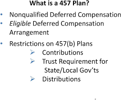 Nonqualified Deferred Compensation Plan Reporting Examples Chart 457 Plans 457 B And 457 F Plans Nonqualified Deferred