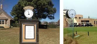 custom golf course clock