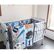 baby boy sport crib bedding set blue