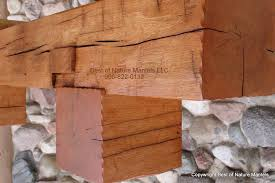 corbels with flush edge rustic fireplace mantels