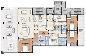 Luxury 4 Bedroom Apartment Floor Plans In Best Layout Ideas 1