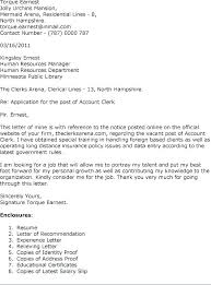 Accounting Clerk Cover Letter Cover Letter For Accountants Arzamas