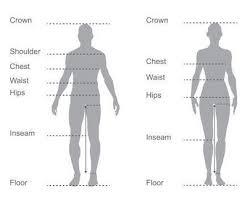 Size Comparison Chart Clothing Male And Female Clothing Size Conversion Charts Disabled World